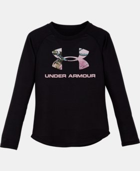 Girls' Pre-School UA Hunt Big Logo Raglan Long Sleeve