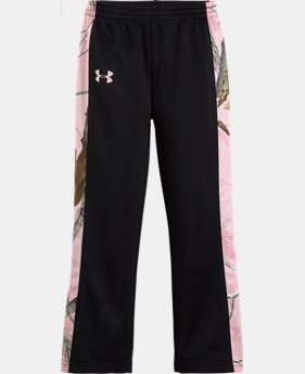 Girls' Toddler UA Solid Real Tree Pants