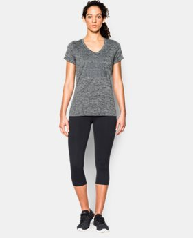New Arrival  Women's UA Tech™ V-Neck - Twist Logo LIMITED TIME: FREE SHIPPING 1 Color $32.99