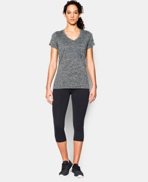Women's UA Tech™ V-Neck - Twist Logo  1 Color $15.74 to $16.99