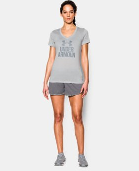 Women's UA Tech™ V-Neck - Twist Logo  1 Color $18.74 to $24.99