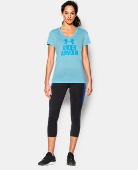 Women's UA Tech™ V-Neck - Twist Logo  2 Colors $15.99 to $16.99