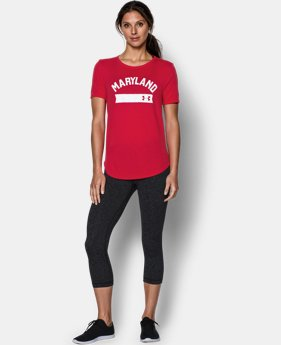 Women's Maryland UA Short Sleeve Crew