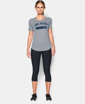 Women's Navy Short UA Sleeve Crew