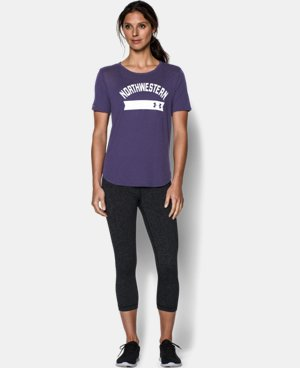 New to Outlet Women's Northwestern College UA Short Sleeve Crew  1 Color $22.99