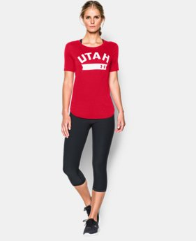 New to Outlet Women's Utah UA Short Sleeve Crew   $22.99