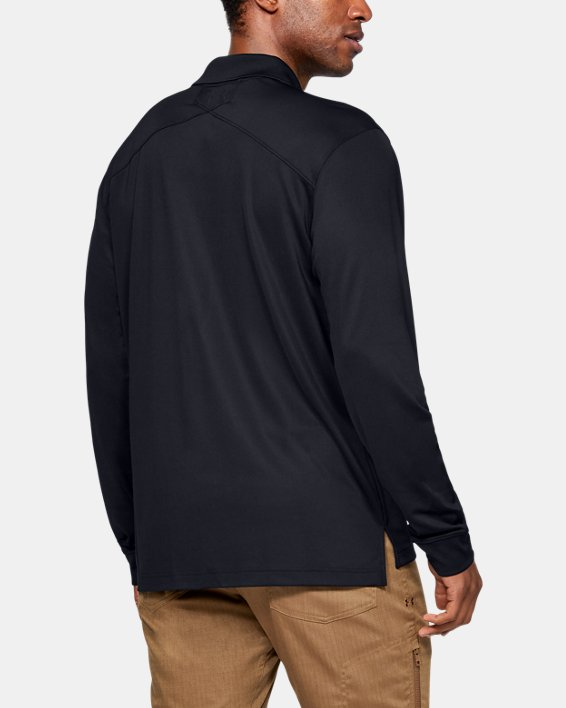Polo UA Tactical Performance Long Sleeve pour homme, Black, pdpMainDesktop image number 4