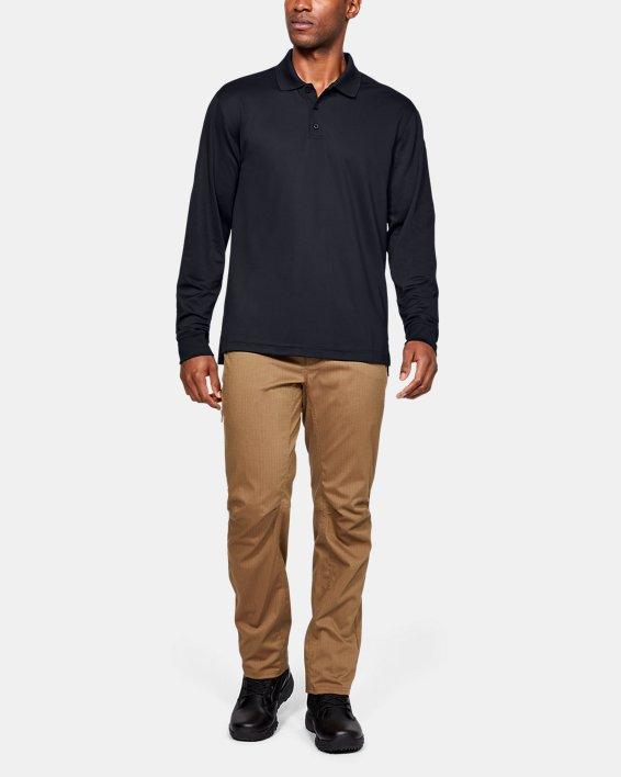 Polo UA Tactical Performance Long Sleeve pour homme, Black, pdpMainDesktop image number 3