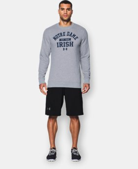 Men's Notre Dame UA Rival Fleece Crew