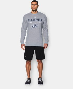 Men's Navy UA Rival Fleece Crew