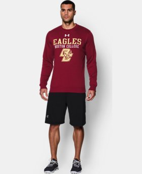 Men's Boston College UA Rival Fleece Crew LIMITED TIME: FREE U.S. SHIPPING 1 Color $49.99