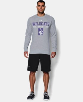 Men's Northwestern UA Rival Fleece Crew