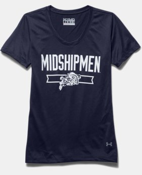 Girls' Navy UA Tech™ Shimmer T-Shirt
