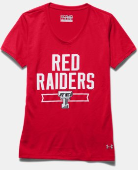 Girls' Texas Tech UA Tech™ Shimmer T-Shirt