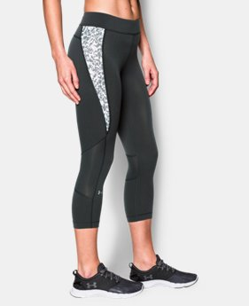 New to Outlet Women's UA HeatGear® Armour Print Inset Crop   $33.99