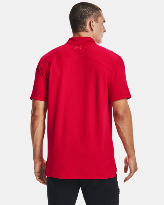 Men's UA Tactical Performance Polo, Red, pdpMainDesktop image number 4