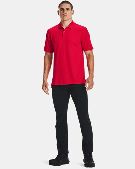 Men's UA Tactical Performance Polo, Red, pdpMainDesktop image number 3