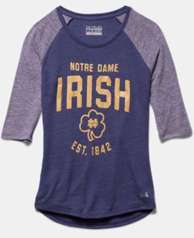 Girls' Notre Dame UA Tri-Blend ¾ Sleeve