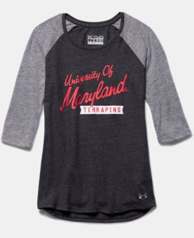 Girls' Maryland UA Tri-Blend ¾ Sleeve