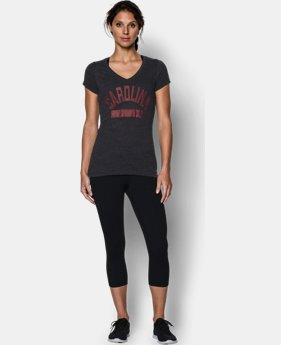 Women's South Carolina UA Tri-Blend Short Sleeve V-neck