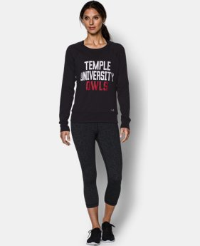 Women's Temple UA Long Sleeve Crew