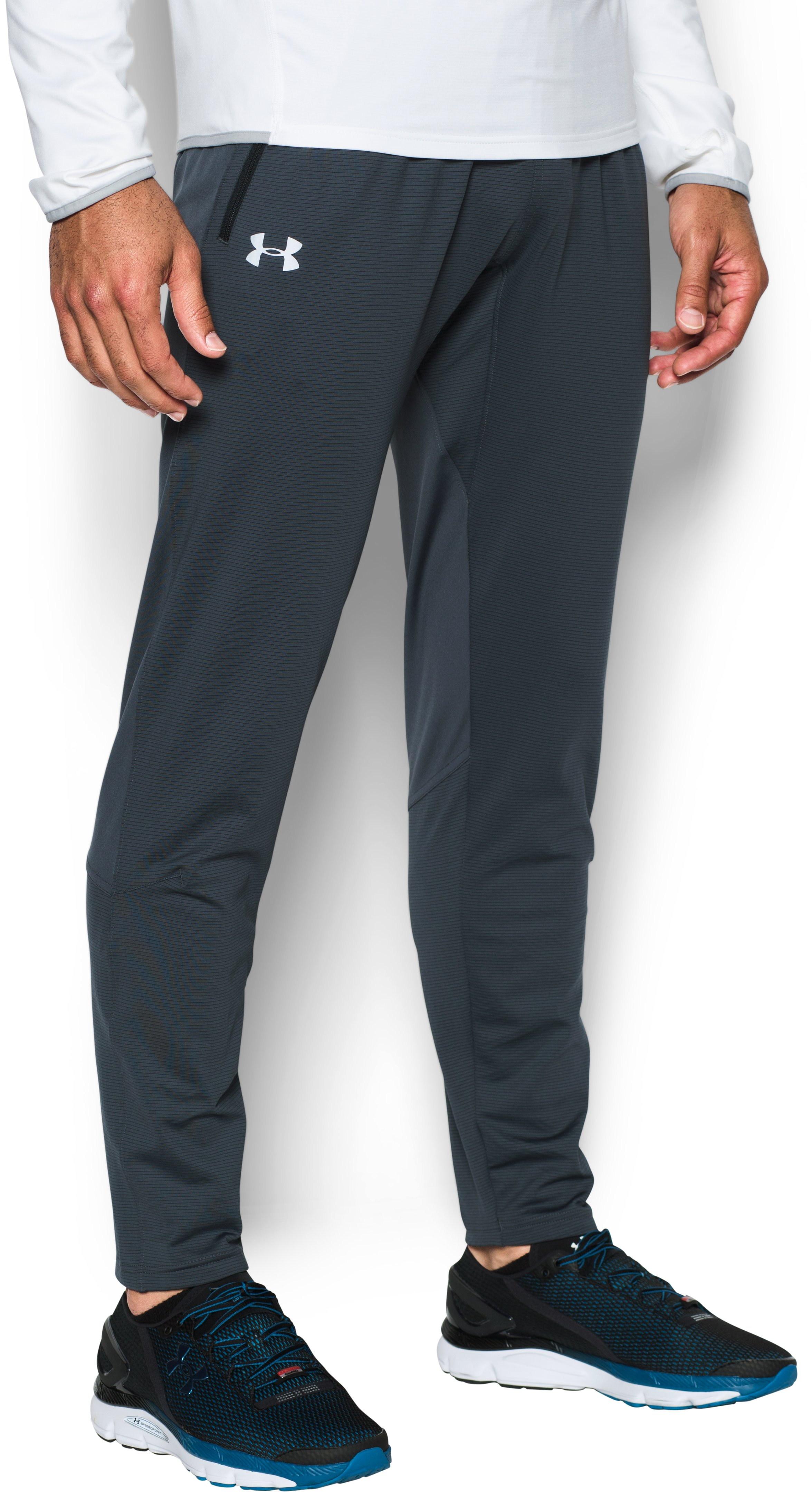 Men's UA No Breaks ColdGear® Infrared Run Pants, STEALTH GRAY