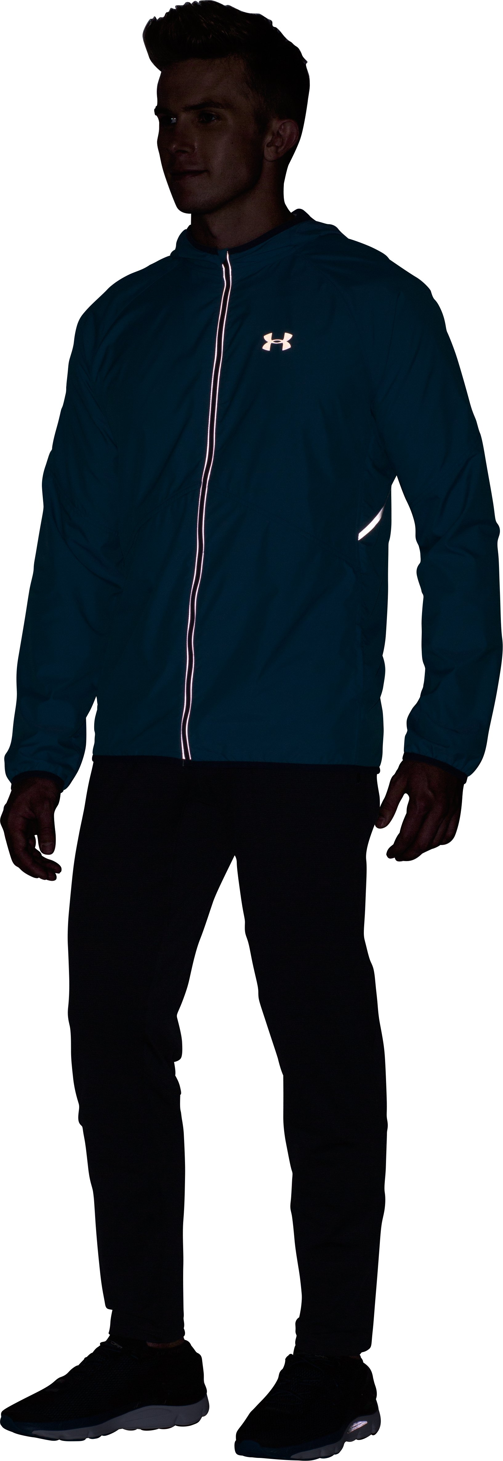 Men's UA Storm No Breaks Run Jacket, BRILLIANT BLUE