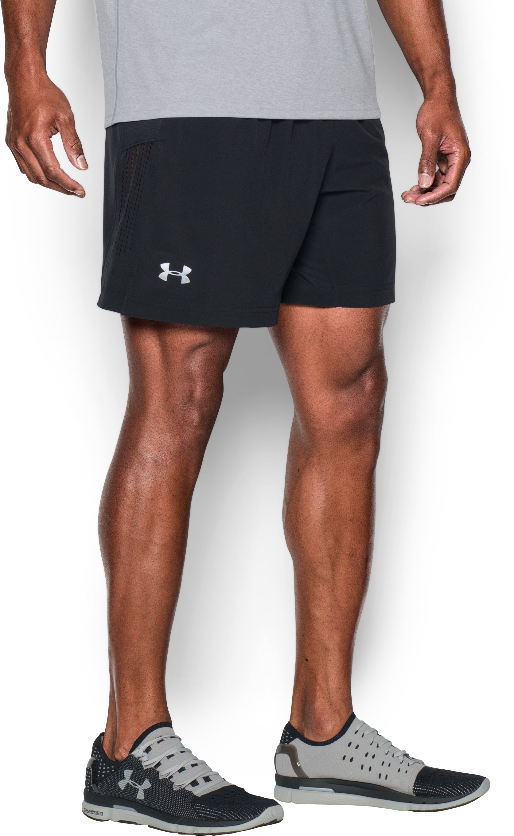 "Men's UA Performance Run 7"" Linerless Shorts, Black"