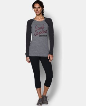 Women's South Carolina UA Tri-Blend Long Sleeve Crew