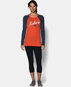 Women's Auburn UA Tri-Blend Long Sleeve Crew