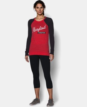 Women's Maryland UA Tri-Blend Long Sleeve Crew