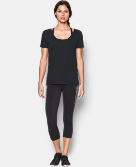 Women's UA Microthread Scoop V-Neck  1 Color $18.99