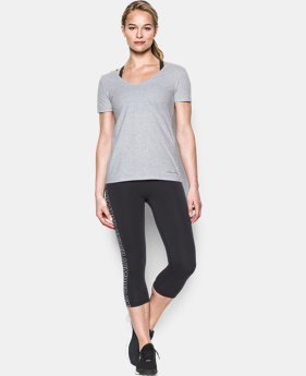 Women's UA Microthread Scoop V-Neck LIMITED TIME: FREE U.S. SHIPPING 3 Colors $14.24 to $18.99