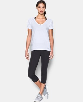 New Arrival  Women's UA Microthread Scoop V-Neck LIMITED TIME: FREE SHIPPING 9 Colors $29.99