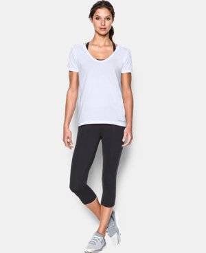 New Arrival  Women's UA Microthread Scoop V-Neck  8 Colors $29.99