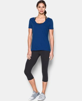 Women's UA Microthread Scoop V-Neck  1 Color $29.99
