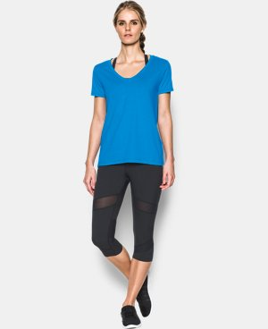 Women's UA Microthread Scoop V-Neck LIMITED TIME: FREE U.S. SHIPPING 1 Color $14.24 to $18.99