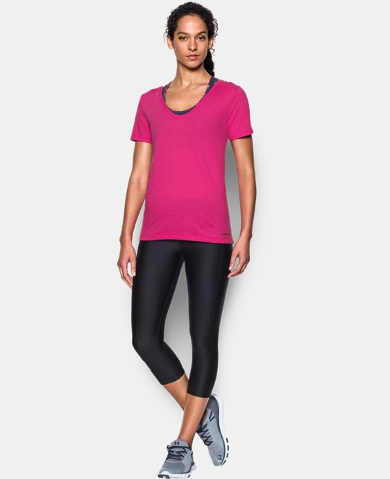 Women's UA Microthread Scoop V-Neck LIMITED TIME: FREE U.S. SHIPPING  $14.24 to $18.99