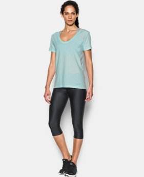 Women's UA Microthread Scoop V-Neck  2 Colors $18.99