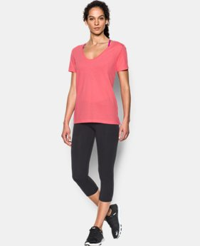New Arrival  Women's UA Microthread Scoop V-Neck LIMITED TIME: FREE SHIPPING  $29.99