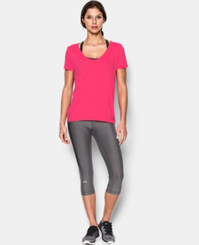 New Arrival  Women's UA Microthread Scoop V-Neck LIMITED TIME: FREE SHIPPING 2 Colors $29.99