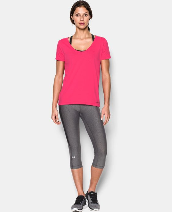 New Arrival  Women's UA Microthread Scoop V-Neck   $29.99
