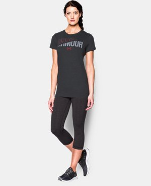 Women's UA Favorite T-Shirt - Slash Wordmark LIMITED TIME: FREE U.S. SHIPPING 1 Color $18.99
