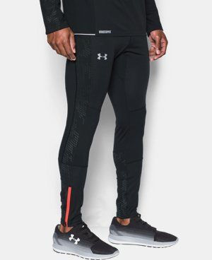 New Arrival Men's UA No Breaks WINDSTOPPER® Run Leggings  1 Color $139.99