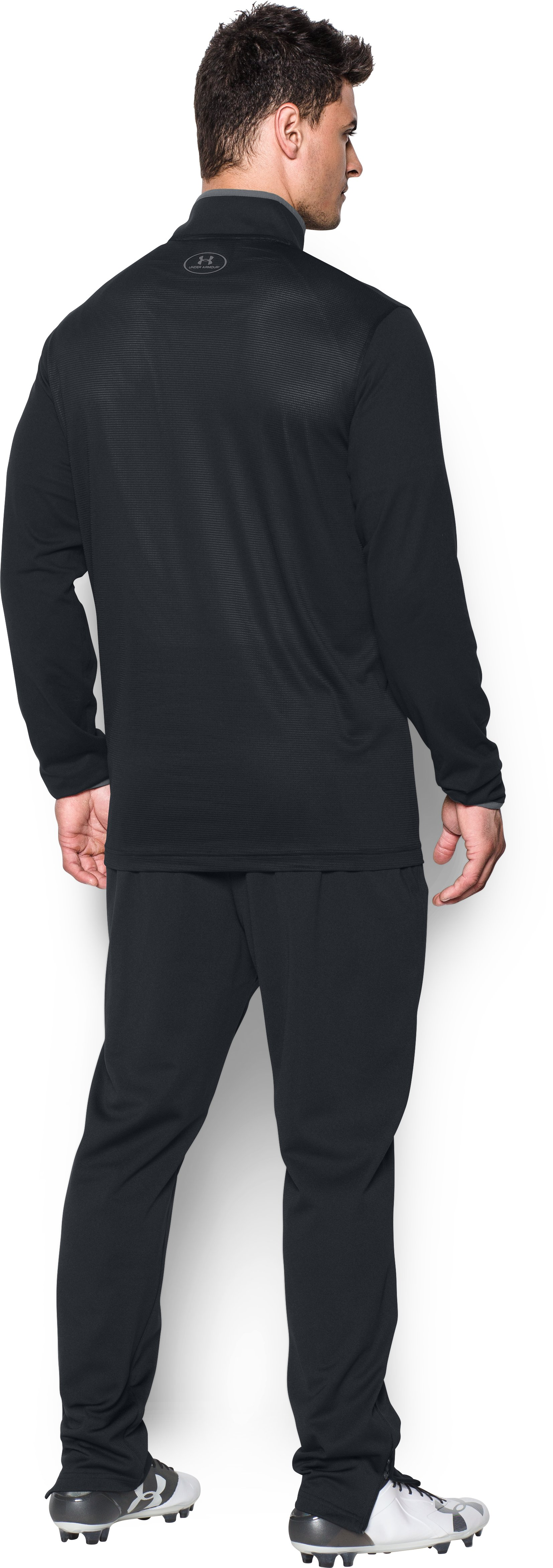 Men's UA Challenger Knit ¼ Zip, Black , Back