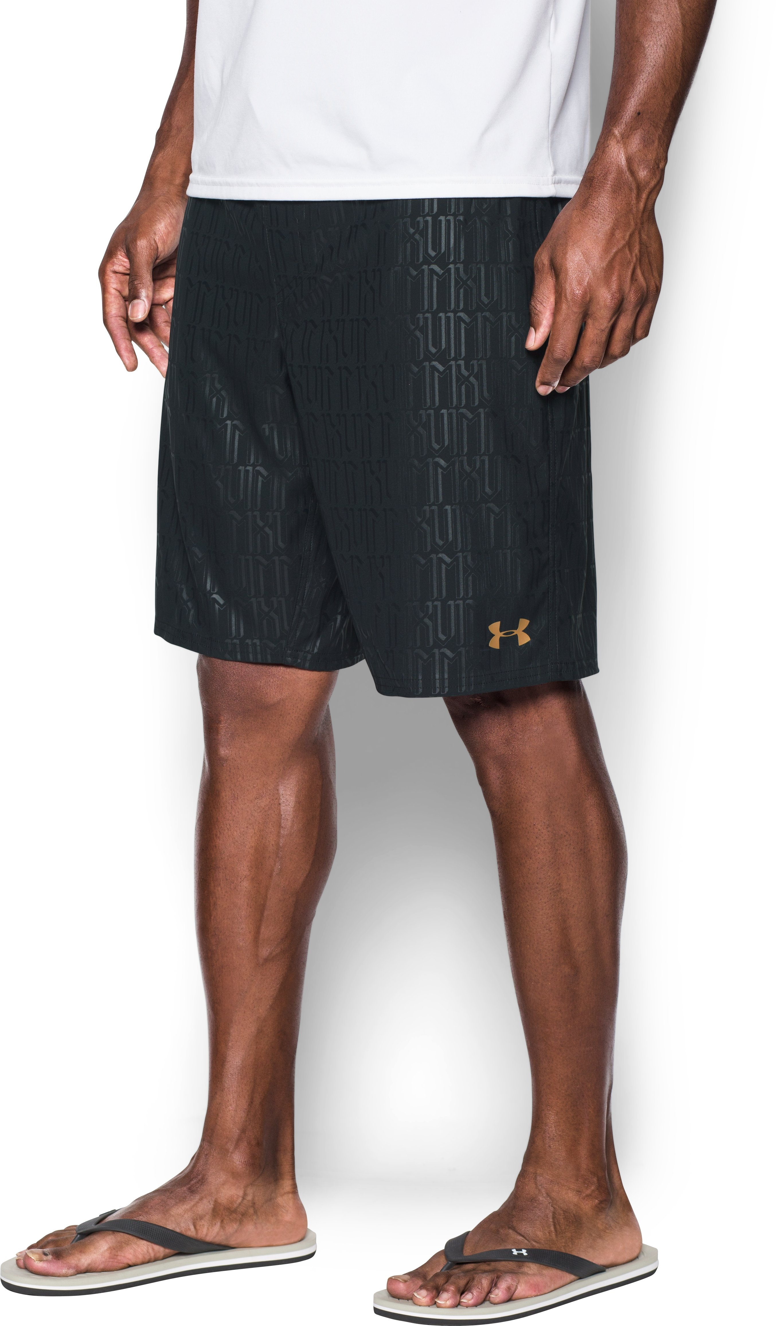 Men's UA Printed , Black , zoomed image