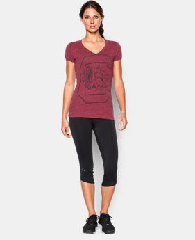 New to Outlet Women's UA Charged Cotton® Tri-Blend South Carolina V-Neck LIMITED TIME: FREE U.S. SHIPPING 1 Color $22.99
