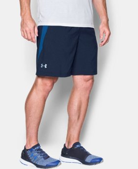 "New Arrival Men's UA Launch Run 9"" Printed Shorts  1 Color $39.99"