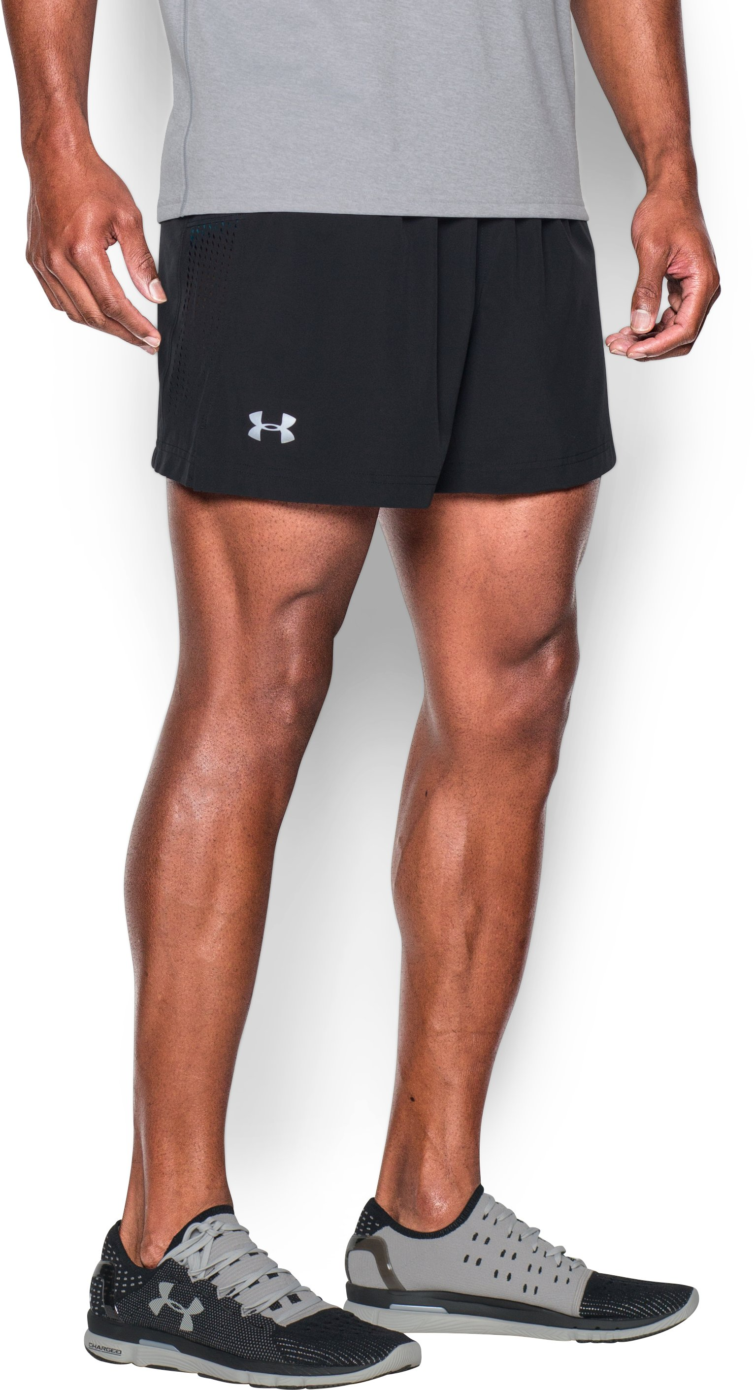 "Men's UA Performance Run 5"" Shorts, Black ,"