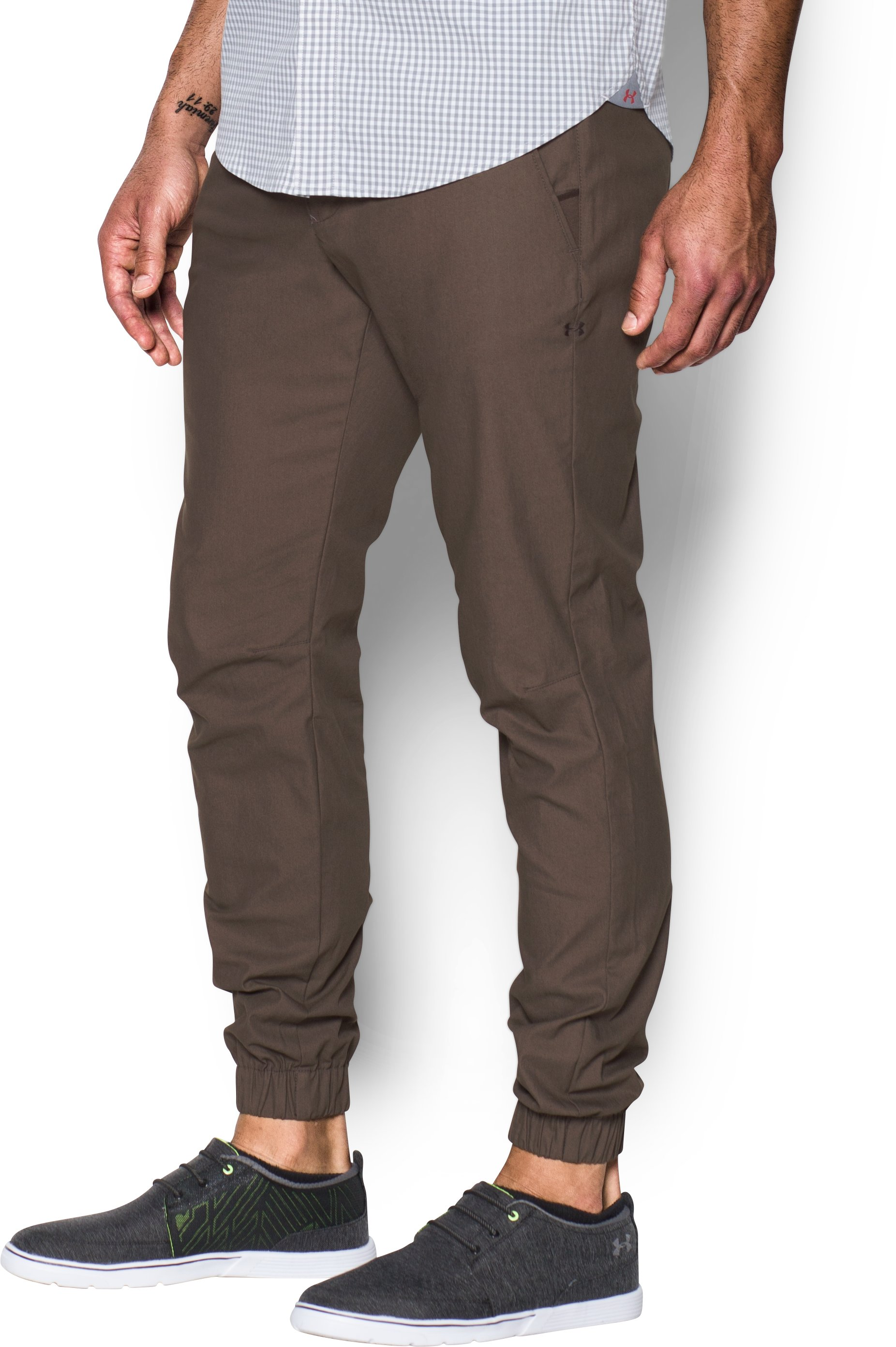 Men's UA Performance Chino Joggers, MAVERICK BROWN, zoomed image